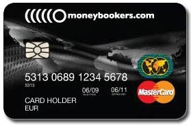 Tilaa Moneybookers Mastercard prepaid luottokortti