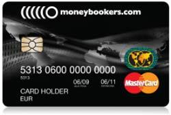 Kuva Moneybookers MasterCard maksukortista