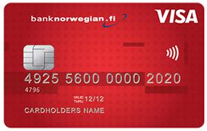 Kuva Norwegianin luottokortista