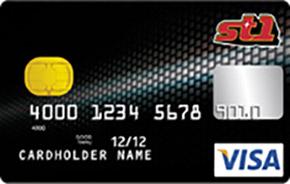 Kuva ST1:n Visa-kortista