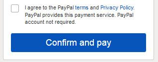 Hyväksy käyttöehdot ja klikkaa Confirm and pay.